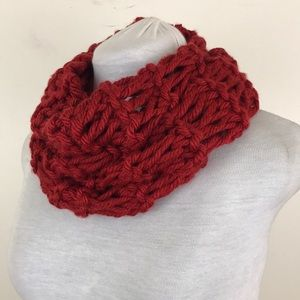 NWOT Lewis Knits Red Tube Infinity Scarf